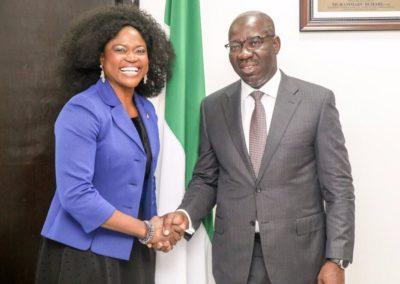 Visist to Edo State Governor- Dr. Godwin Obaseki