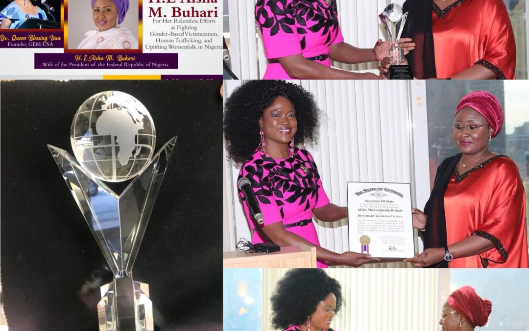 Hearty Congratulations to Her Excellency, Mrs. Aisha Buhari on receiving three awards in the USA
