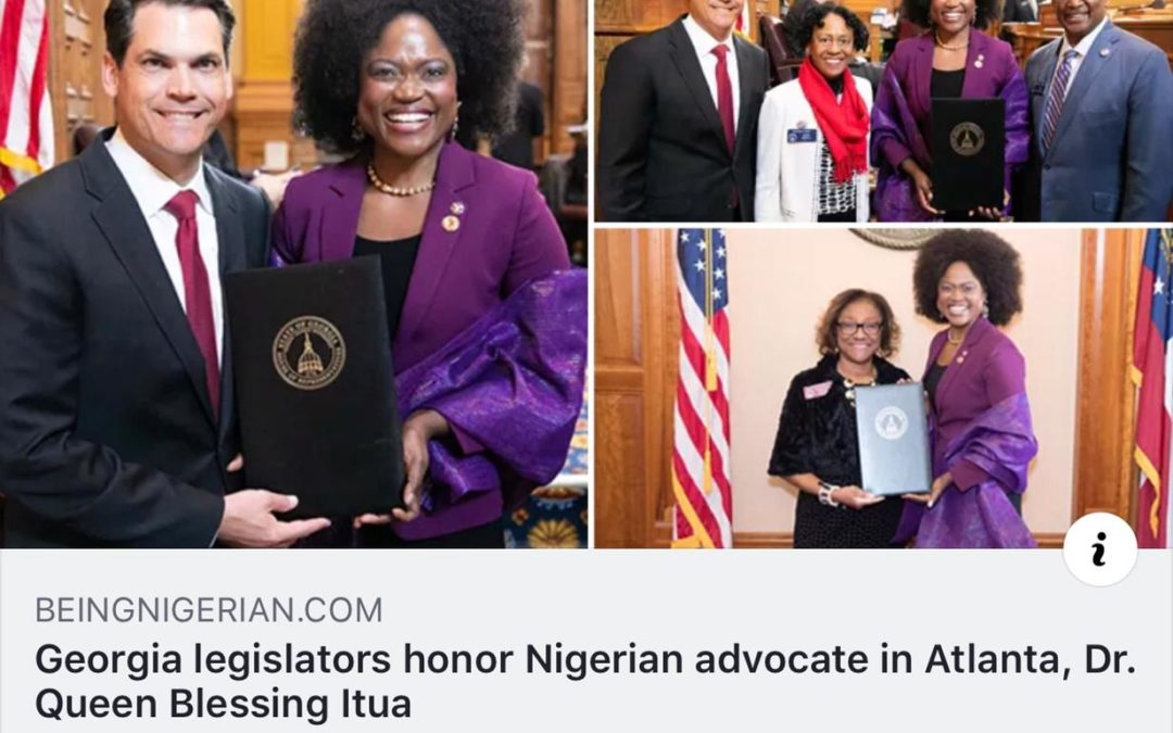 Georgia legislators honor Nigerian advocate in Atlanta, Dr. Queen Blessing Itua
